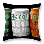 The Keg Room Irish Flag Colors Old English Hunter Green Throw Pillow