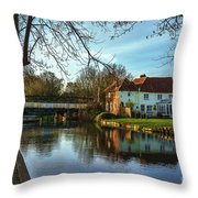 The Kennet And Avon Canal At Sulhamstead Throw Pillow