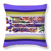 The Key Of Abstraction Throw Pillow