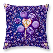 The Key To Love Is Peace And Love Popart Throw Pillow