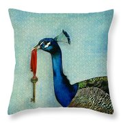 The Key To Success Throw Pillow by Carrie Jackson