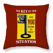 The Key To The Situation - Ww1 Throw Pillow