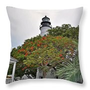The Key West Lighthouse Throw Pillow