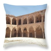 The Khan, Also Known As A Caravanserai, In Akko, Israel Throw Pillow
