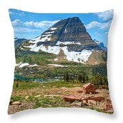 The Kid And The Bear Throw Pillow
