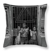 The Kids At Number 652 Throw Pillow