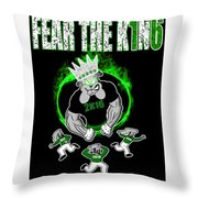 The King Is Here Throw Pillow