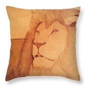 The King Lion Throw Pillow