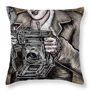 The King Of Cameras Throw Pillow