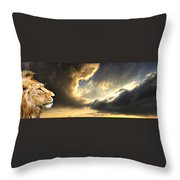 The King Of His Domain Throw Pillow by Meirion Matthias
