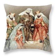 The King Of Kings Throw Pillow