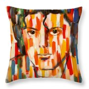 the king of pop Michael Jackson Throw Pillow