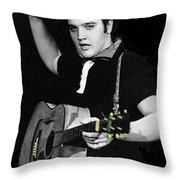 The King Rocks On Xxi Throw Pillow