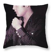 The King Rocks On Xxix Throw Pillow