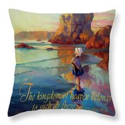 The Kingdom Belongs To These Throw Pillow