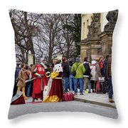 The Kings Of The Democracy. Prague Castle. Prague Spring 2017 Throw Pillow