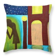 The Kiss Goodnight Throw Pillow
