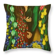 The Kiss Throw Pillow by Milagros Palmieri