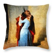 The Kiss Of Hayez Revisited Throw Pillow