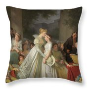 The Kiss Of Protection By The Local Chatelaine  Throw Pillow