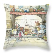 The Kitchen At Crabapple Cottage Throw Pillow