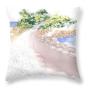 The Knob In Falmouth Throw Pillow