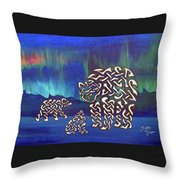 The Knotty Polar Bears Throw Pillow