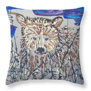 The Kodiak Throw Pillow by J R Seymour