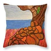 The Labor Day Hamptons Tree Throw Pillow