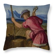 The Labours Of The Months   February Throw Pillow