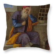 The Labours Of The Months   January Throw Pillow