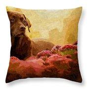 The Labrador Throw Pillow