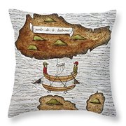 The Ladrone Islands Throw Pillow