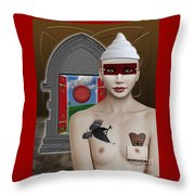 The Lady In Waiting Throw Pillow by Keith Dillon