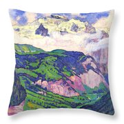 The Lady Of Isenfluh Throw Pillow