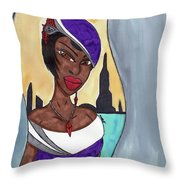 The Lady Of The City Throw Pillow