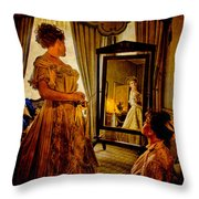The Lady Of The House Throw Pillow