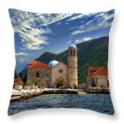 The Lady Of The Rocks Throw Pillow