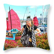The Lady Pirate Throw Pillow
