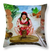 The Lady Potter Throw Pillow
