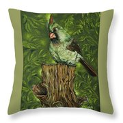 The Lady Waits Throw Pillow