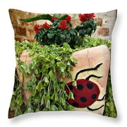 the Ladybug Throw Pillow