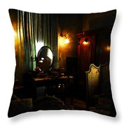 The Lady's Room Throw Pillow