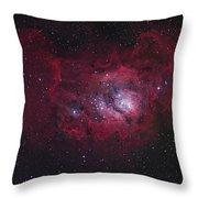 The Lagoon Nebula Throw Pillow