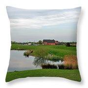The Lake At Barton Marina Throw Pillow