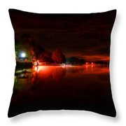 The Lake At Nightfall Throw Pillow