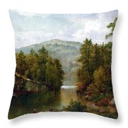 The Lake George Throw Pillow by David Johnson