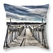 The Lake Iv In Color Throw Pillow
