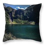 The Lake On A Mountain Throw Pillow