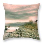 The Lake Walker Throw Pillow